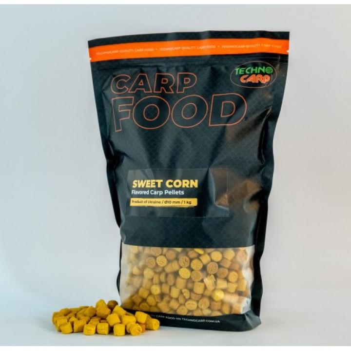 Пеллетc Технокарп Flavored Carp Pellets 1kg 10mm Sweetcorn