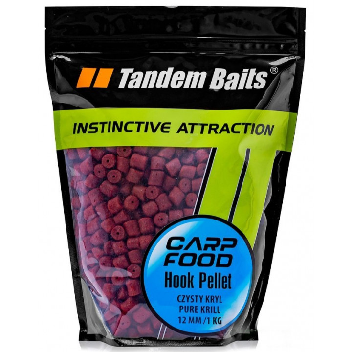 Пеллетс Tandem Baits Carp Food Hook Pellets 16mm 1kg Black Halibut