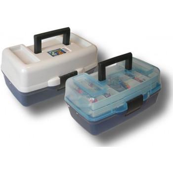 Ящик Fishing ROI 2-полочный (прозрачная крышка) 305x185x150