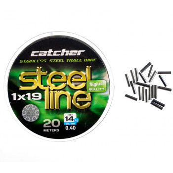 Поводковый материал Catcher Stainless steel 1x19 trace wire 20м 14 кг.