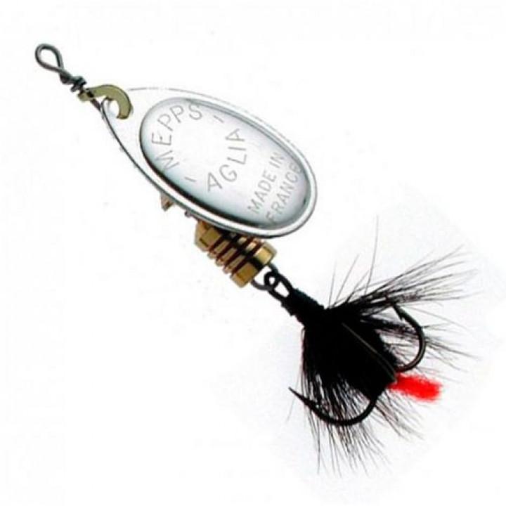 Блесна Mepps Aglia Mouche Silver/Black Fly 3.5g