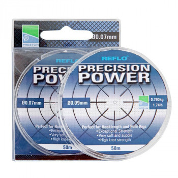PRESTON Леска REFLO PRECISION POWER 0,09 мм 50 0,79 кг