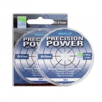 PRESTON Леска REFLO PRECISION POWER 0,07 мм 50 0,5 кг
