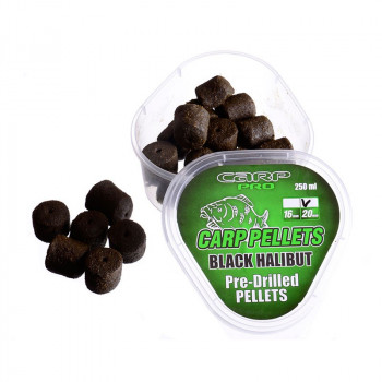 Насадочный пеллетс Carp Pro Black Halibut Pre-Drilled Pellet