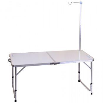 Стол алюмин. складной с держ. для лампы FORREST 120х60х70см