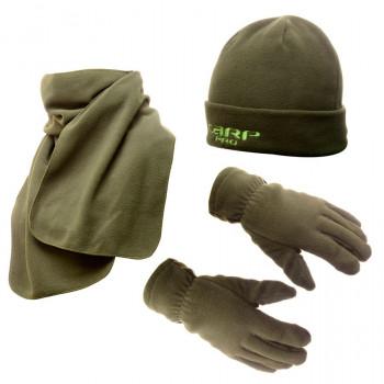 CARP PRO Шапка флисовая + шарф + рукавицы