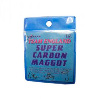 DRENNAN Крючки TE Super Carbon Maggot