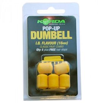 KORDA Приманка пластиковая Pop-up Dumbell IB 16