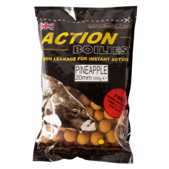 SONUBAITS Бойлы ACTION BOILIES 500g 20mm Pineapple