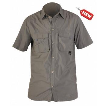 Рубашка с коротким рукавом NORFIN COOL (серая) L