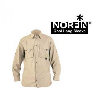 Рубашка NORFIN COOL LONG SLEEVE (бежевая) XXXL