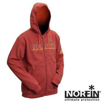 Куртка флисовая с капюшоном Norfin HOODY RED (терракот)