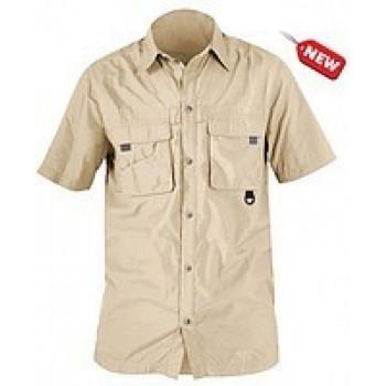 Рубашка с коротким рукавом NORFIN COOL (бежевая) M