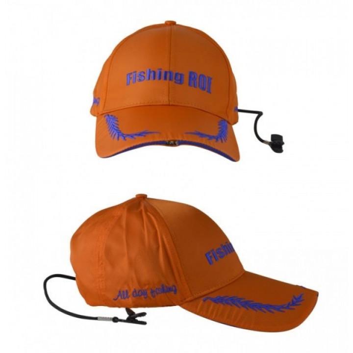 Кепка с фонариком Led Fishing Сap Orange