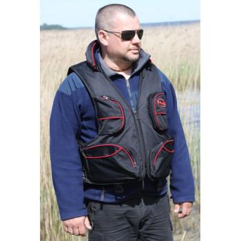 Жилет страховочный Elling Чёрный 80-110kg подголовник