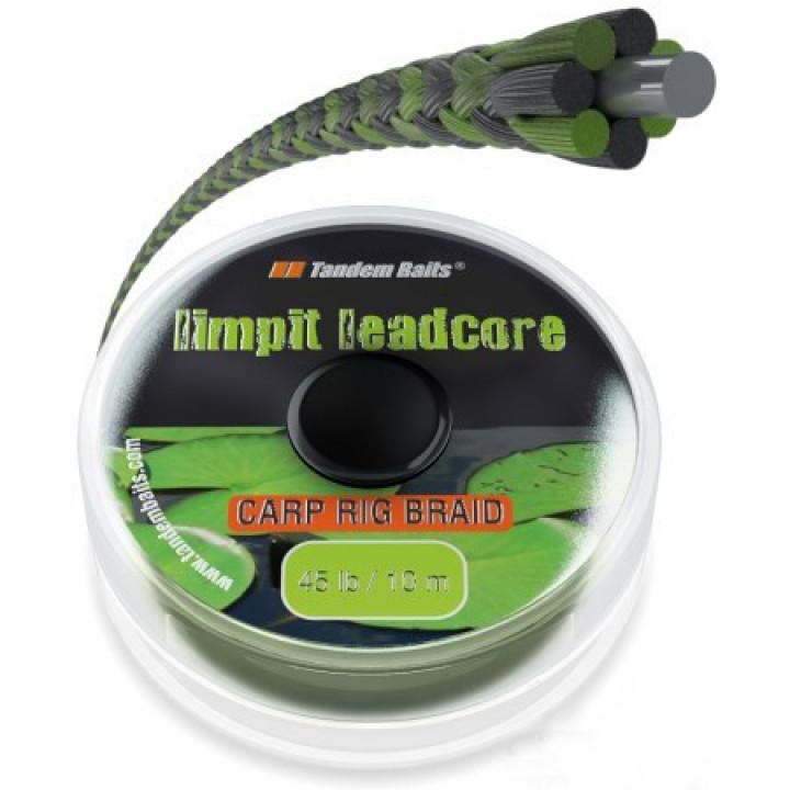 Поводковый материал Tandem Baits Limpit Leadcore 45lb 10m Weed / Водоросли