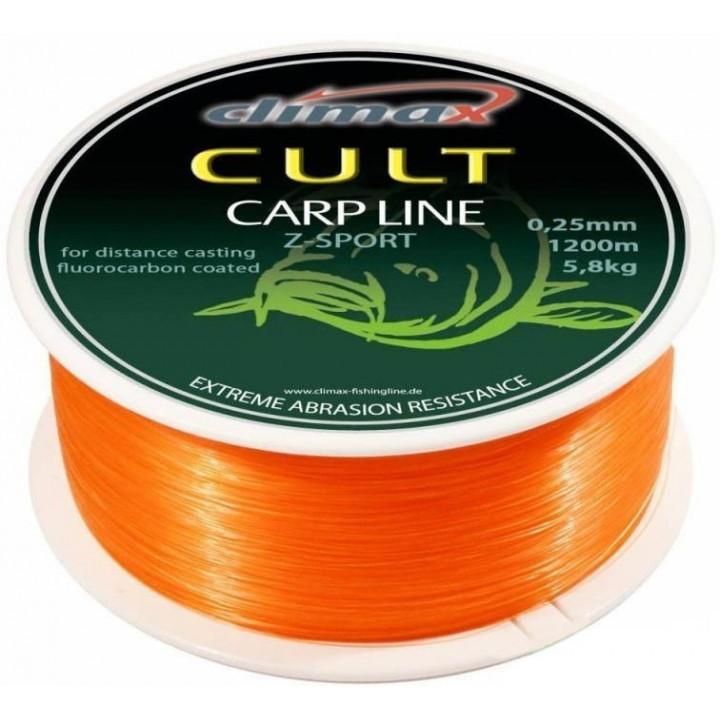 Леска Climax Cult Carp Line Z-Sport orange 0.30mm 1000m 18lb