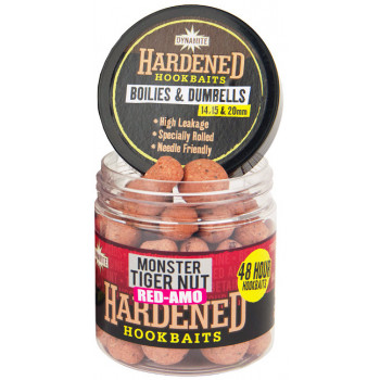 Бойлы Dynamite Baits Hardened Hook Baits 48h Boilies and Dumbless Red Amo 15mm & 20mm