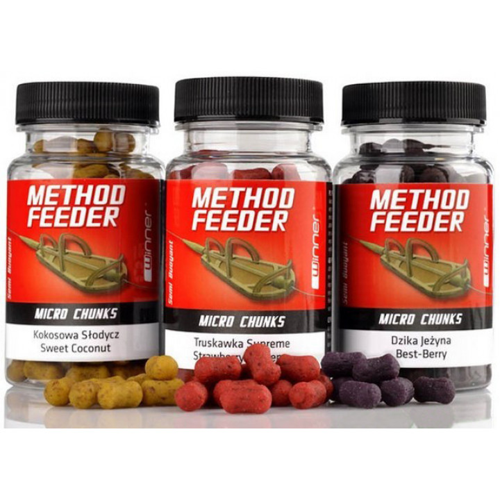 Бойлы Winner Method Feeder Micro Chunks 40g Squid & Orange