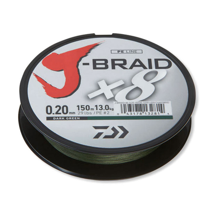 Шнур Daiwa J-Braid x8 150m 0.20mm Green