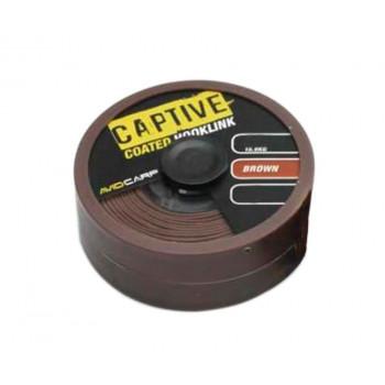 Поводковый материал Avid Carp Captive Coated Hooklink Brown 20m 11.3kg 25lb