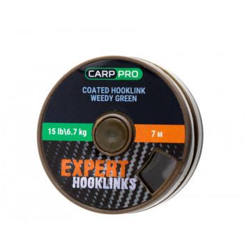 Поводковый материал в оплётке Carp Pro 7m 15lb Зелёный