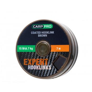 Поводковый материал в оплётке Carp Pro 7m 15lb Коричневый