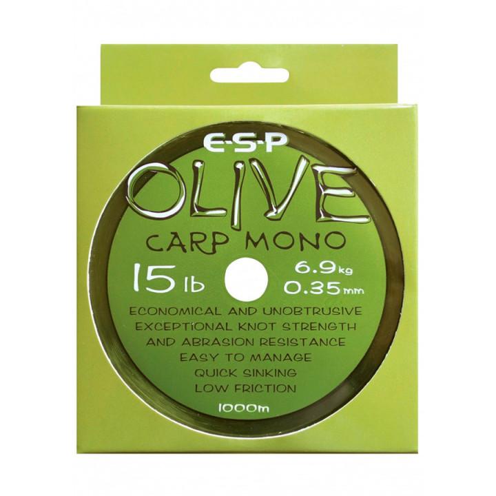 Леска ESP Olive Carp Mono 0.30mm 0.3-0.4mm 1000m