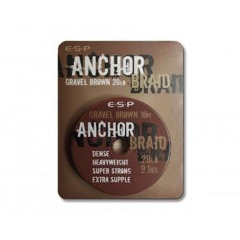 Поводковый материал ESP Anchor Braid 10m 6.8kg Gravel Brown