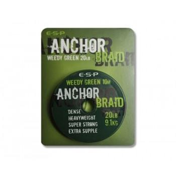 Поводковый материал ESP Anchor Braid 10m 6.8kg Weed Green