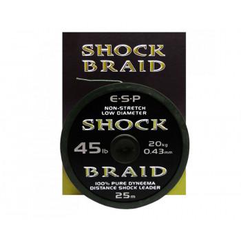 Шок лидер Esp Shock Braid 0.43mm 25m 45lb