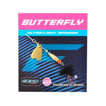 Блесна Flagman Butterfly 1,1g лепесток золото Чёрный