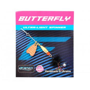 Блесна Flagman Butterfly 1,1g лепесток медь Чёрный