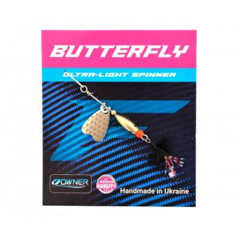 Блесна Flagman Butterfly 1,1g лепесток серебро  Чёрный