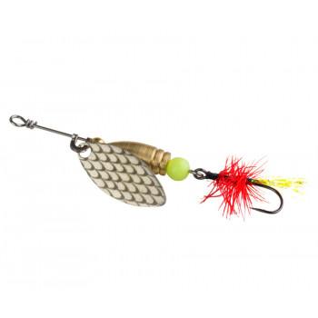 Блесна Flagman Wasp Красная муха Серебро