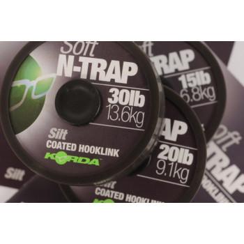 Поводковый материал KORDA N-TRAP SOFT 20m 20lb Silt