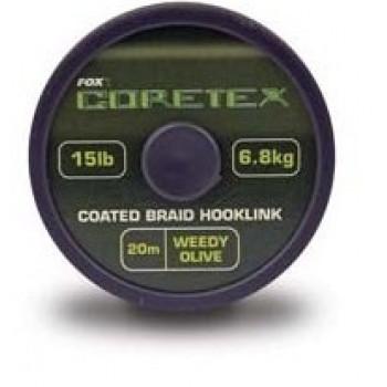 Поводковый материал в оболочке Fox Coretex Weedy Olive 15 lb