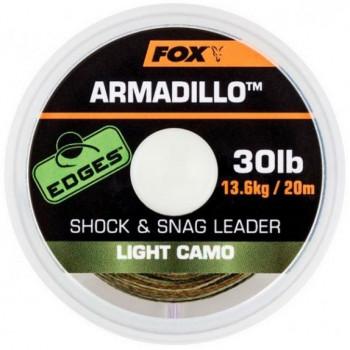 Поводковый материал Fox Armadillo 20m 20m 20lb Light Camo