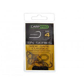 Крючки Carp Pro Black Nickel Wide Gape Classics №4