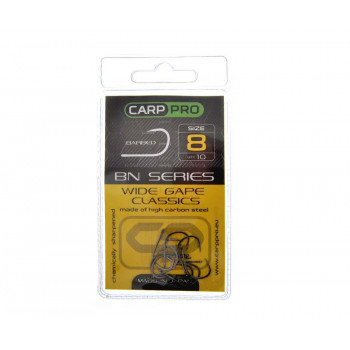 Крючки Carp Pro Black Nickel Wide Gape Classics №8