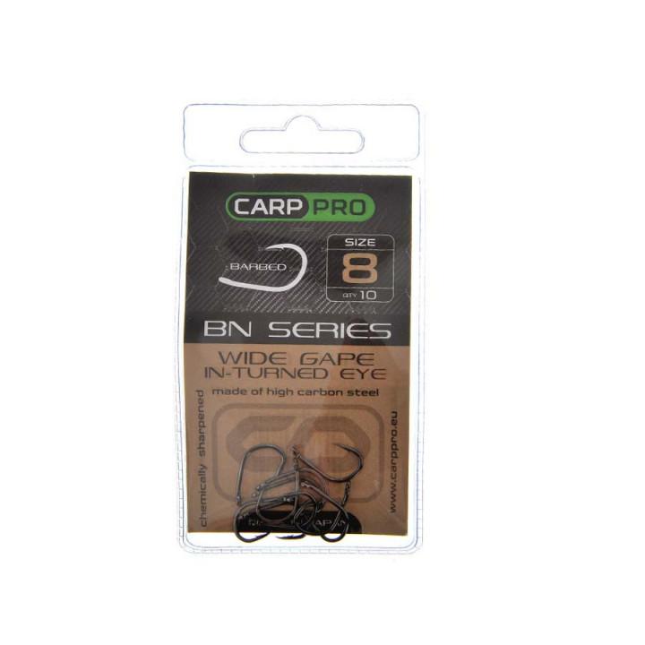 Крючки Carp Pro Black Nickel Wide Gape In-turned Eye №8