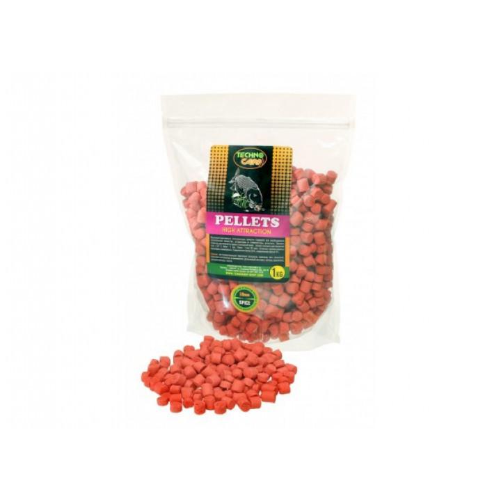 Пеллетc Технокарп Flavored Carp Pellets 1kg 10mm Spice
