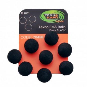 Бойлы Технокарп Texno Eva Balls 8шт. 10mm Чёрный