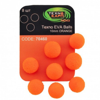 Бойлы Технокарп Texno Eva Balls 8шт. 10mm Оранжевый