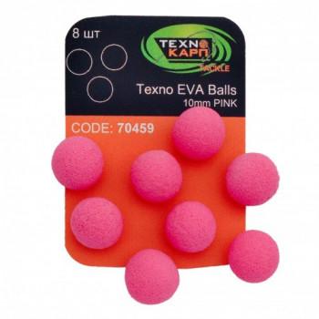 Бойлы Технокарп Texno Eva Balls 8шт. 10mm Розовый