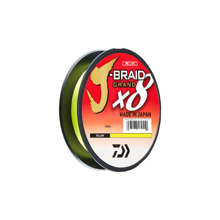Шнур Daiwa Grand J-Braid x8 135m 0.06mm Yellow
