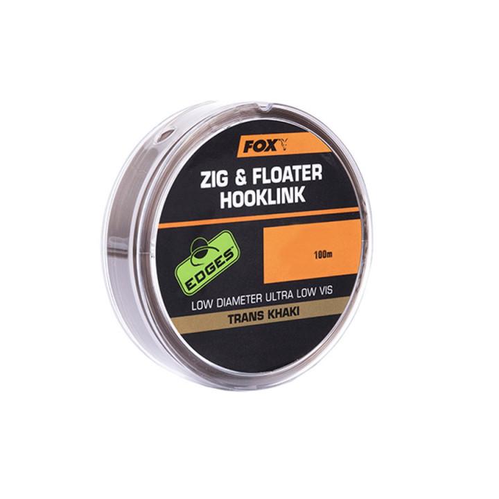 Поводковый материал FOX Zig and Floater Hooklink Trans Khaki 12lb 0.28mm