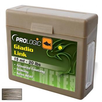 Поводковый материал Prologic Gladio Link 15m 40lbs Coated Camo Brown