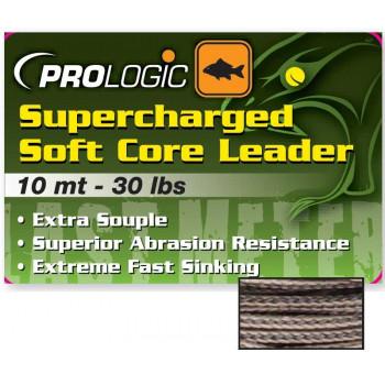 Лидкор Prologic Supercharged Soft Core Leader 10m 40lbs Camo Silt