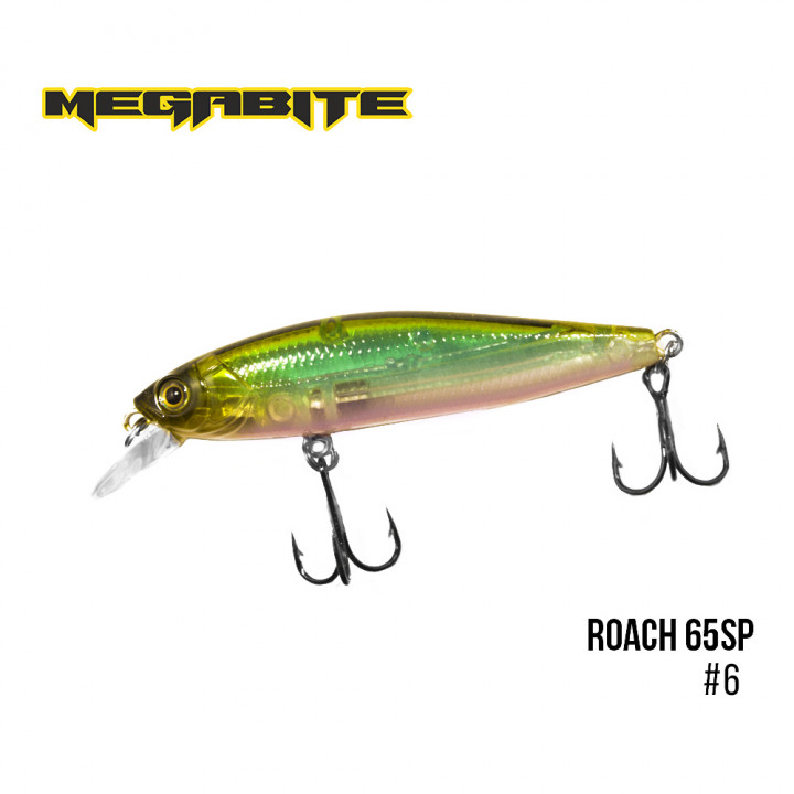 Воблер Megabite Roach 65 SP 65mm 5.7g до 0.8m 6